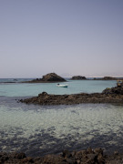 Lagoon on Isla de los Lobos, Fuerteventura. Photo by Nick Haslam