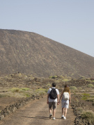 Walking on Isla de los Lobos, Fuerteventura. Photo by Nick Haslam