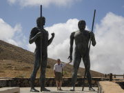 Statues of Majorero warriors on Fuerteventura. Photo by Nick Haslam