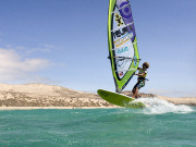 Windsurfing on Fuerteventura. Photo by Rene Egli Windsurfing And Kitesurfing Pro Center