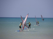 Learning to windsurf on Fuerteventura. Photo by Rene Egli Windsurfing And Kitesurfing Pro Center