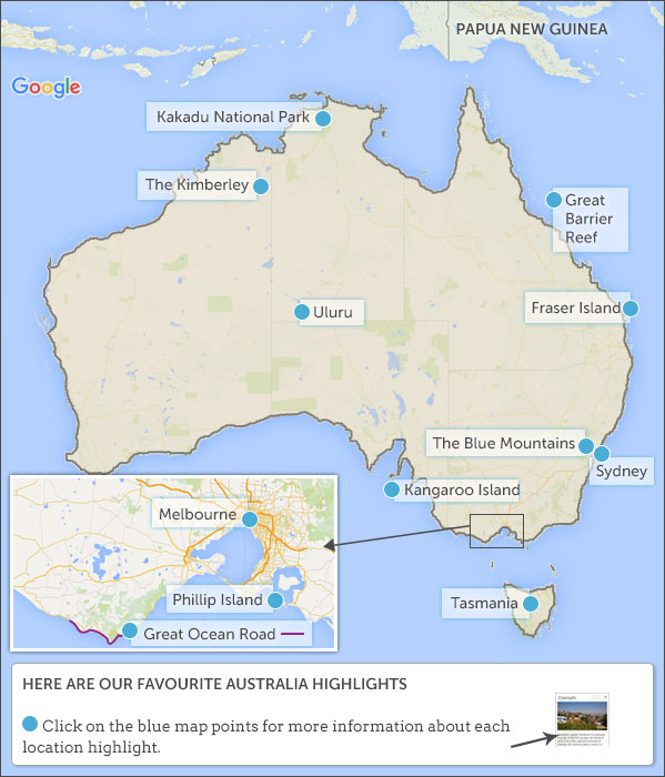 Barrier Reef Australia Map.Australia Travel Itineraries And Map Helping Dreamers Do