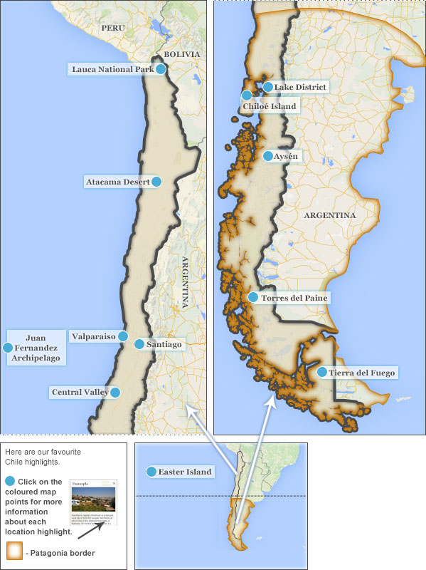 Where To Go In Chile Chile Highlights And Best Places To Visit - Chile map argentina