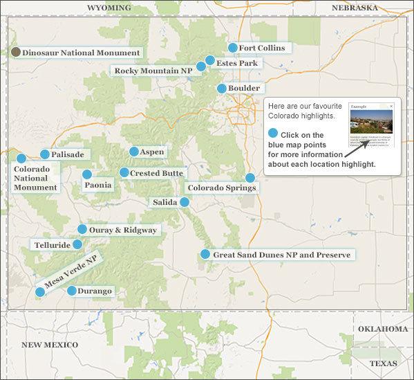 Colorado highlights. Responsible travel guide to Colorado\'s highlights