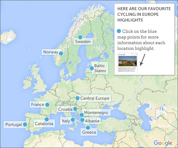 Cycling Vacations In Europe Map Highlights - Norway map highlights