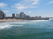 Durban coastline, KwaZulu-Natal. Photo by Richard Madden