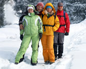 Synthetic, hi-tech snow gear