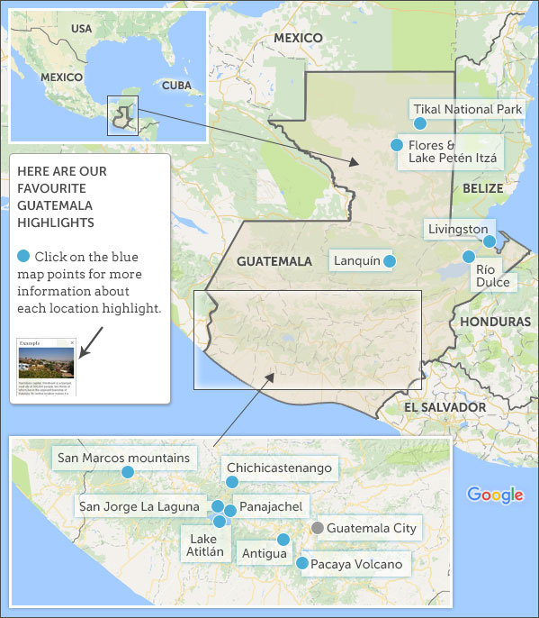 Guatemala map highlights Helping Dreamers Do