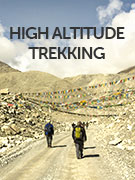 High altitude trekking