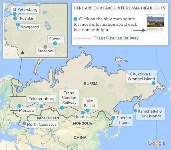 Russia Map Highlights Helping Dreamers Do - Russia mao