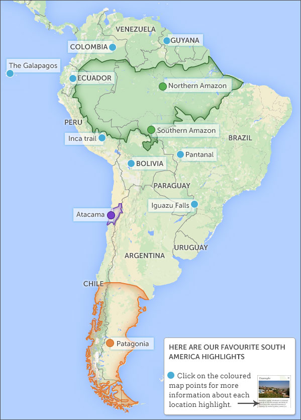 Places to visit in South America Suggested places to visit in South America
