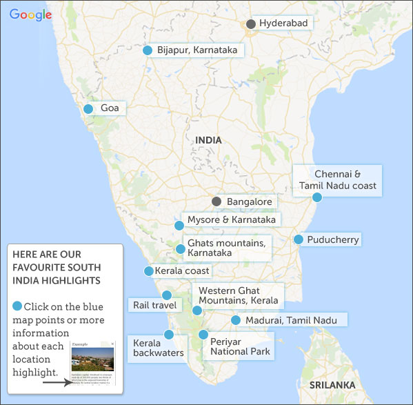 Places To Visit On Konkan Belt: South India Map And Highlights. Helping Dreamers Do
