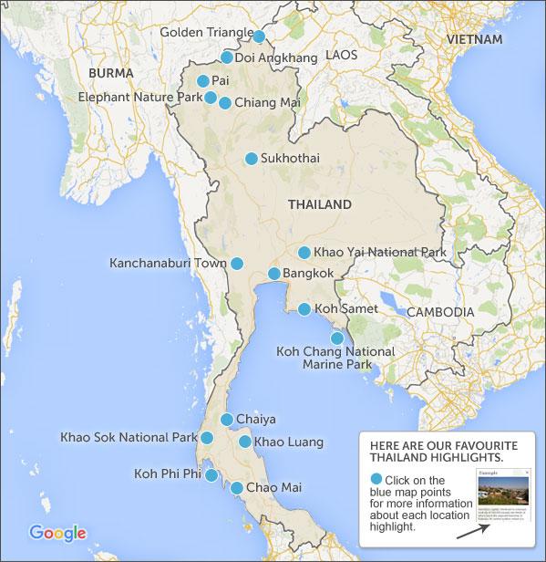 Thailand itineraries Thailand travel itineraries and highlights