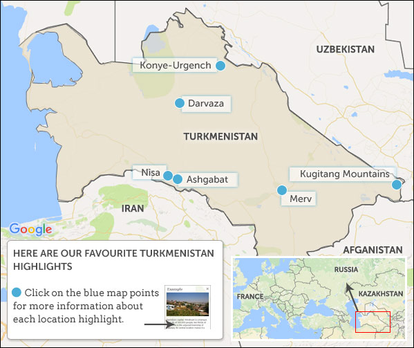 Turkmenistan travel guide Helping Dreamers Do