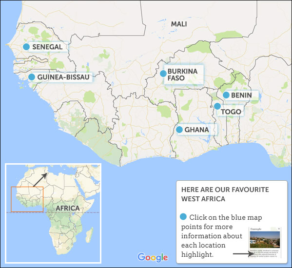 West Africa travel guide Helping Dreamers Do