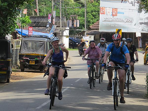 Kerala and tropical India cycling vacations