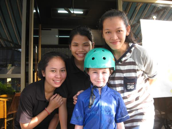 Cambodia family biking vacation