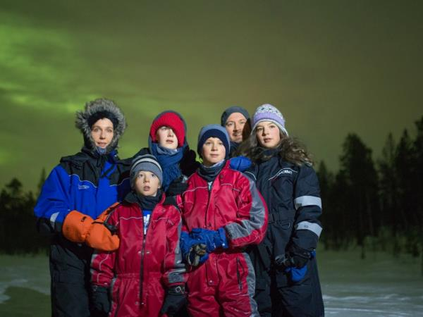 Northern Lights family vacation in Finland