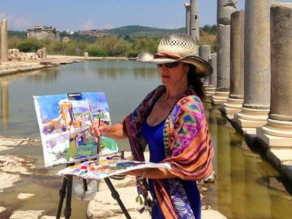 Turkey painting vacation on the Turquoise Coast