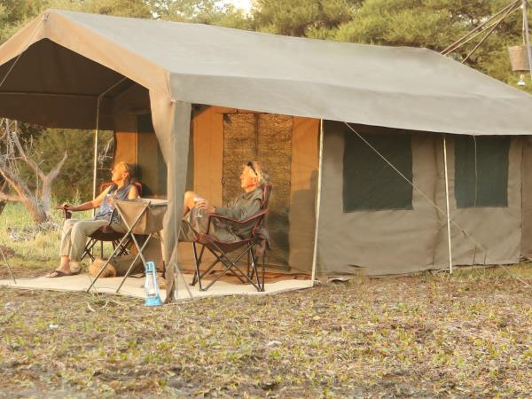 Botswana mobile tent safari
