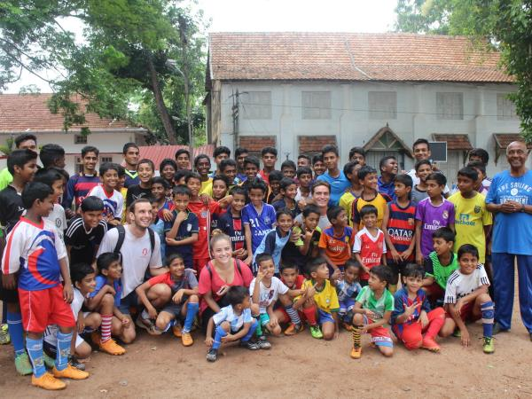 Volunteer in India, sports coaching