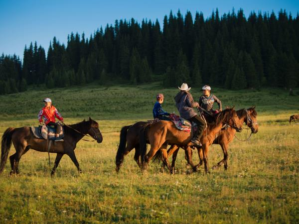 Inner Mongolia horse riding tour, China