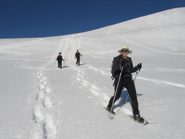 Snowshoeing vacation in the French Alps