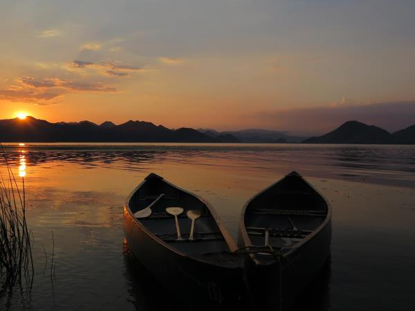 Canoeing and kayaking vacation in Montenegro, Lake Skadar
