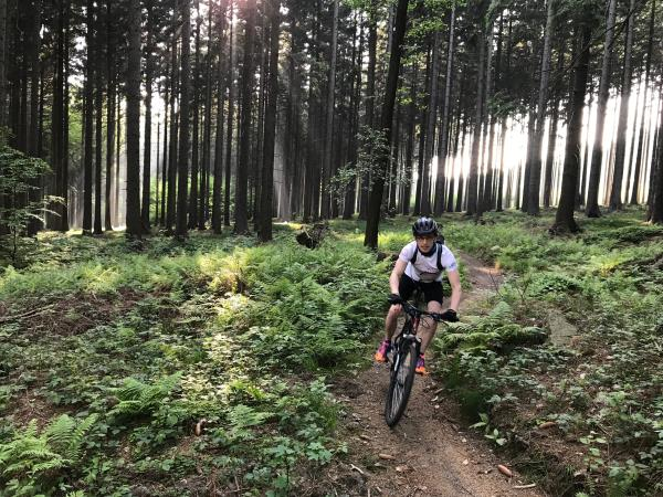 Single track cycling vacation in Poland