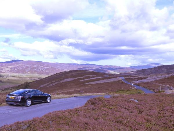 Tesla self drive holiday in Scotland