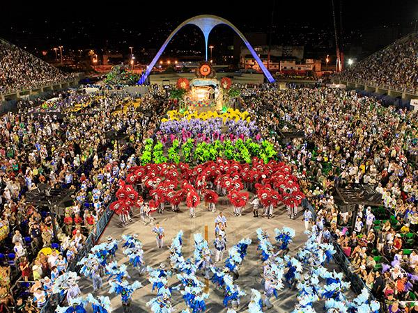 Rio Carnival holiday in Brazil
