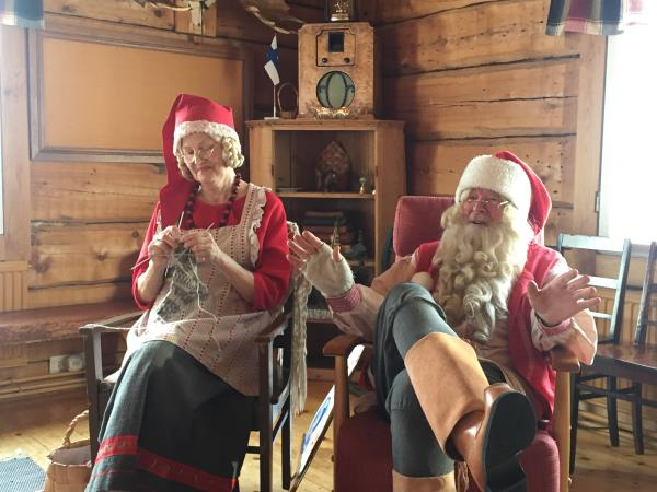 Family winter vacation in Lapland with Father Christmas