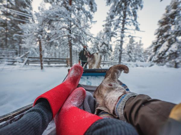 Family winter adventure in Finland