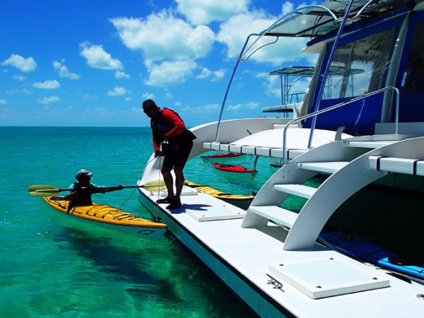 Sea kayaking vacation in the Bahamas