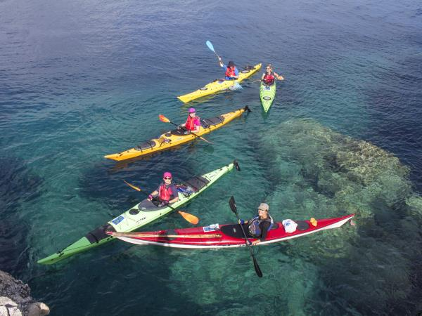 Ithaca sea kayaking skills vacation, Greece