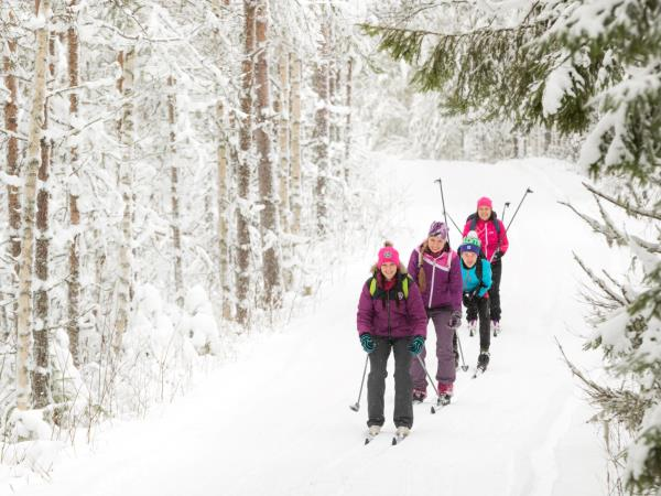 Cross-country skiing vacation in Finland