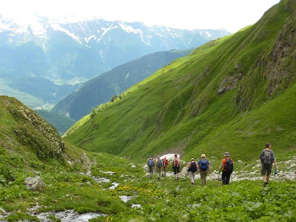 Hiking in the Caucasus vacation