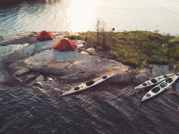 Sweden kayaking and camping vacation