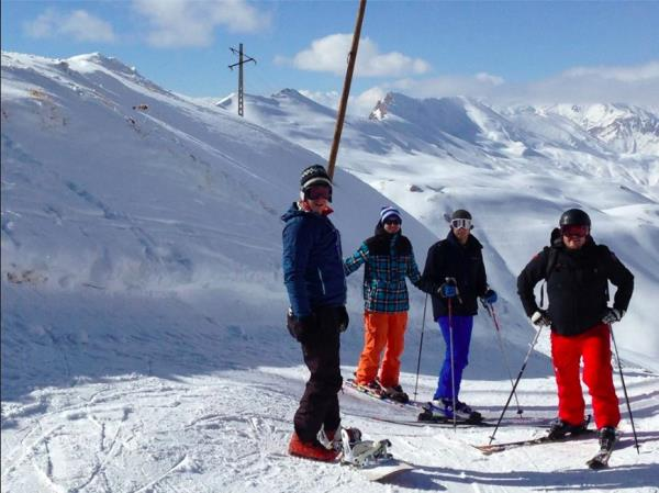 Skiing vacation in Iran