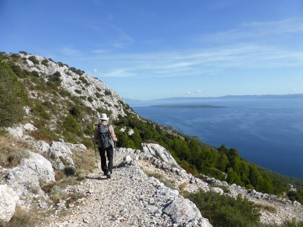 Croatia self-guided trekking vacation, Dalmatian Islands