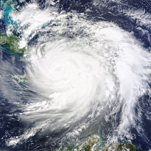 Hurricane season in the Caribbean