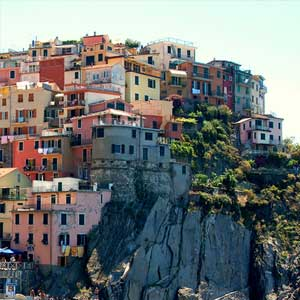 Italy walking holiday highlights & map