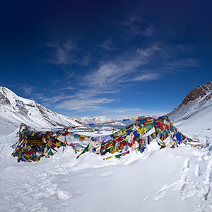 Crossing the Thorong La pass