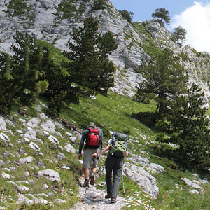 Albania walking routes