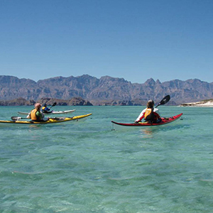 Sea kayaking in Baja