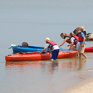 Sea kayaking with kids