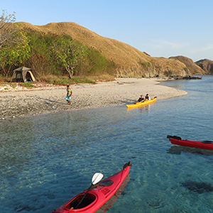 Sea kayaking in the Komodo Islands