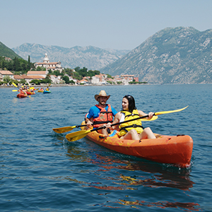 Sea kayaking in Montenegro