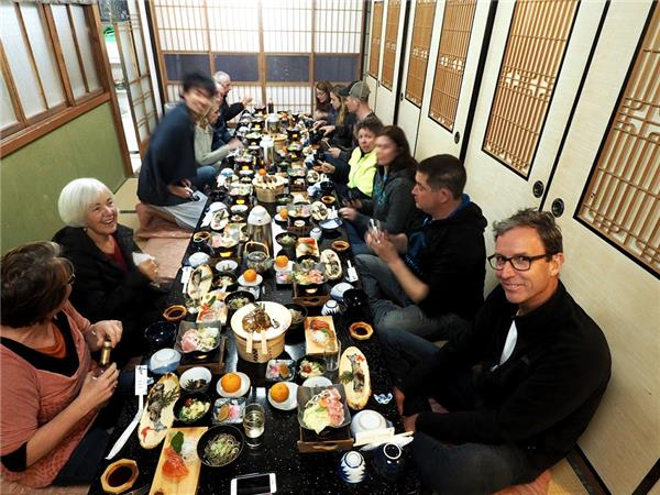Japan group vacation, a food adventure