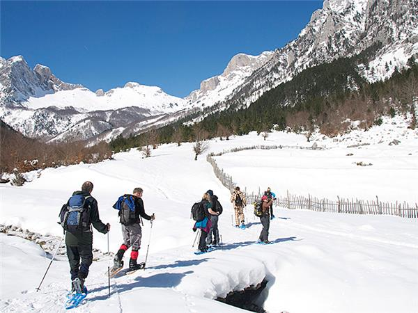 Albania snowshoeing vacation